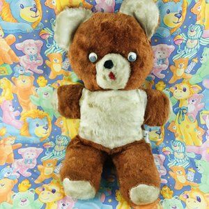 vintage 1950s brown teddy bear MCM Columbia plush